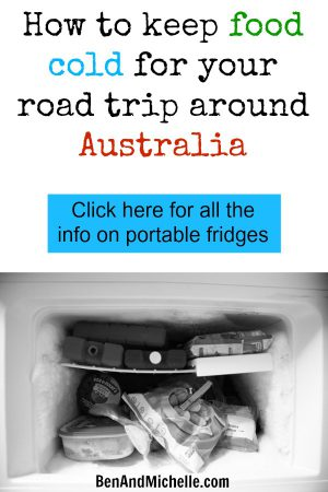 There are lots of different types of portable fridges that you could take on your road trip around Australia. From compressor to gas to esky's. Click here to read this post on the different types of fridges, so you can know which one will be best for you. #fridge #benandmichelle