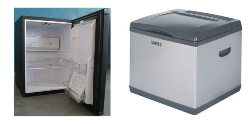 Portable Fridges - there is a huge range of portable fridges, from highly efficient, well insulated dual zone (and very expensive) models, right through to your good old esky. Let me help you understand how they're all different. Absorption Fridges