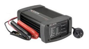 Battery Power for Camping - when you're at a spot that has mains power (a caravan park or at home) then you can charge your batteries using a battery charger.