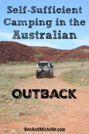 Self-Sufficient Camping in Australia - Isn't just about getting away from the crowds of people, it's also about being able to stop where ever we like (and are allowed), regardless of what 'facilities' are available.