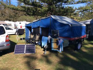 Making ourselves at home while in Port Macquarie (Port Macquarie Breakwall Holiday Park)