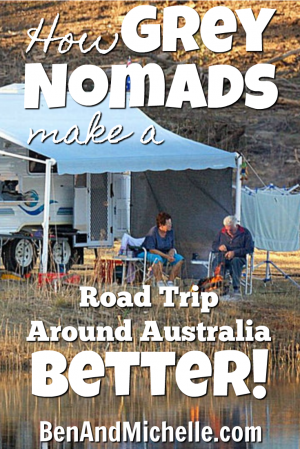 Ben & Michelle - Road Trip Around Australia - I Love Grey Nomads, Here's Why - Grey nomads are the whole reason that this trip is as comfortable as it is, it is because they make up such a large portion of the caravan park market that their demands and desires have been put into place. This is what I mean...
