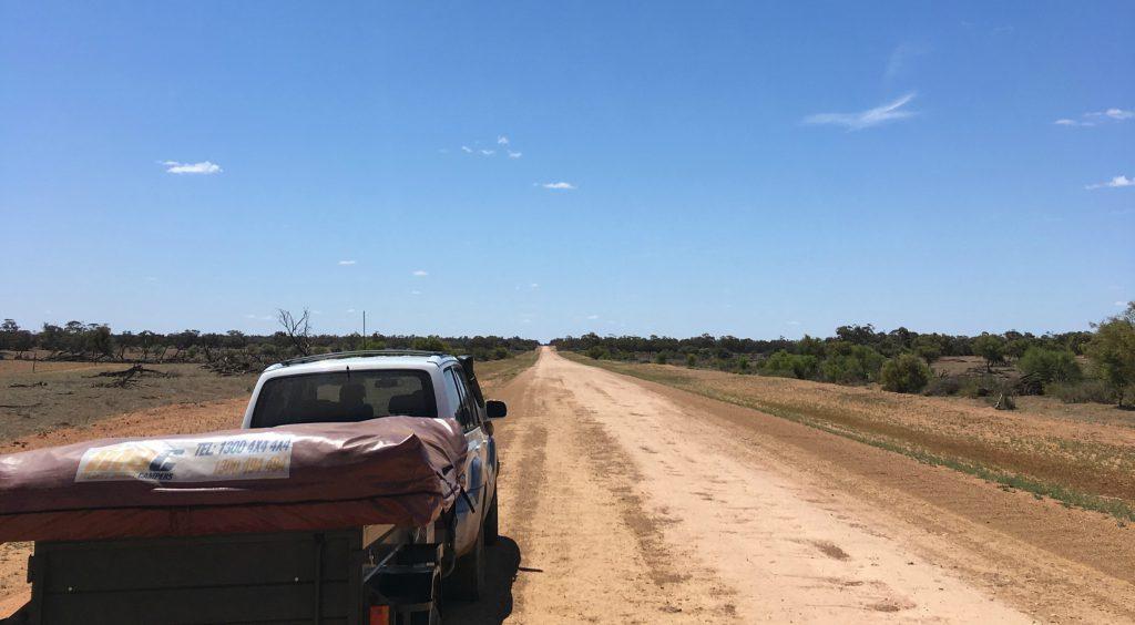 Enjoying the dusty back roads of Australia