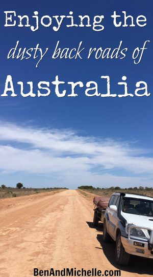 Ben & Michelle Road Trip Around Australia | The Dusty Back Roads of Australia | Do you like the red dirt roads that seem to go on forever.