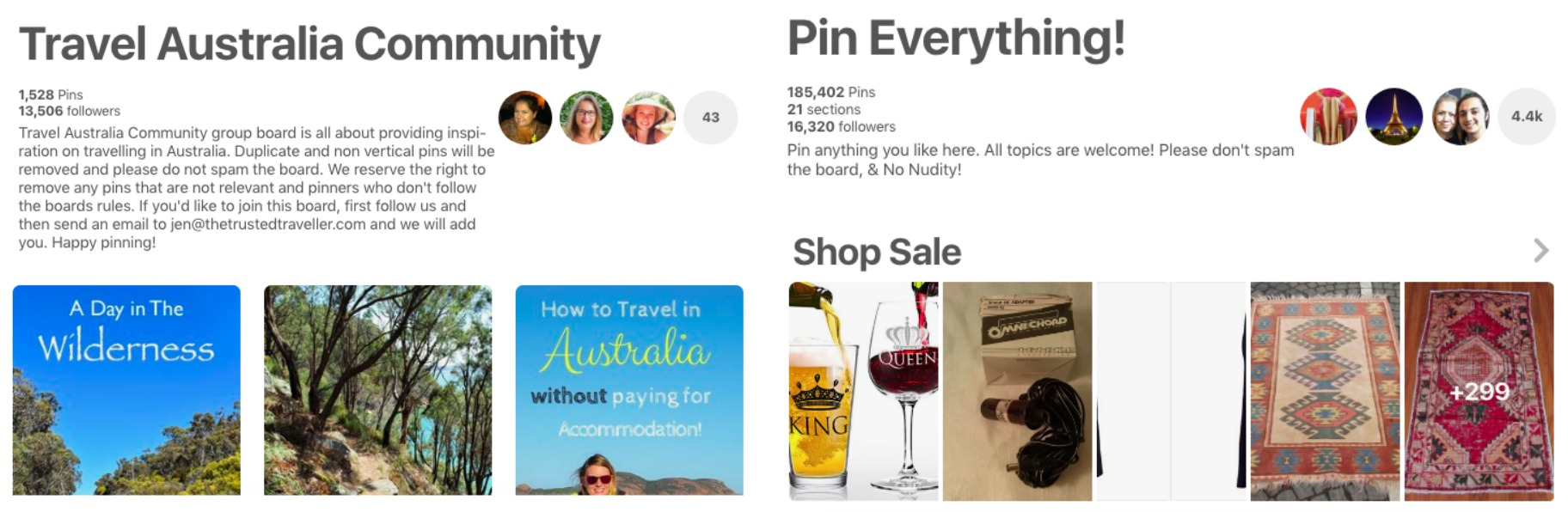 How to use Pinterest for your blog - finding group boards that are relevant to your niche, don't have too many contributors but have more followers than you currently do.