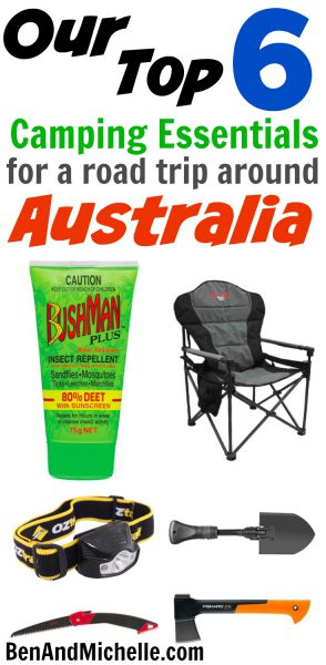 These are the six items that we found essential when travelling around Australia on a camping trip. These are the items that make life comfortable in some situations and bearable in others!