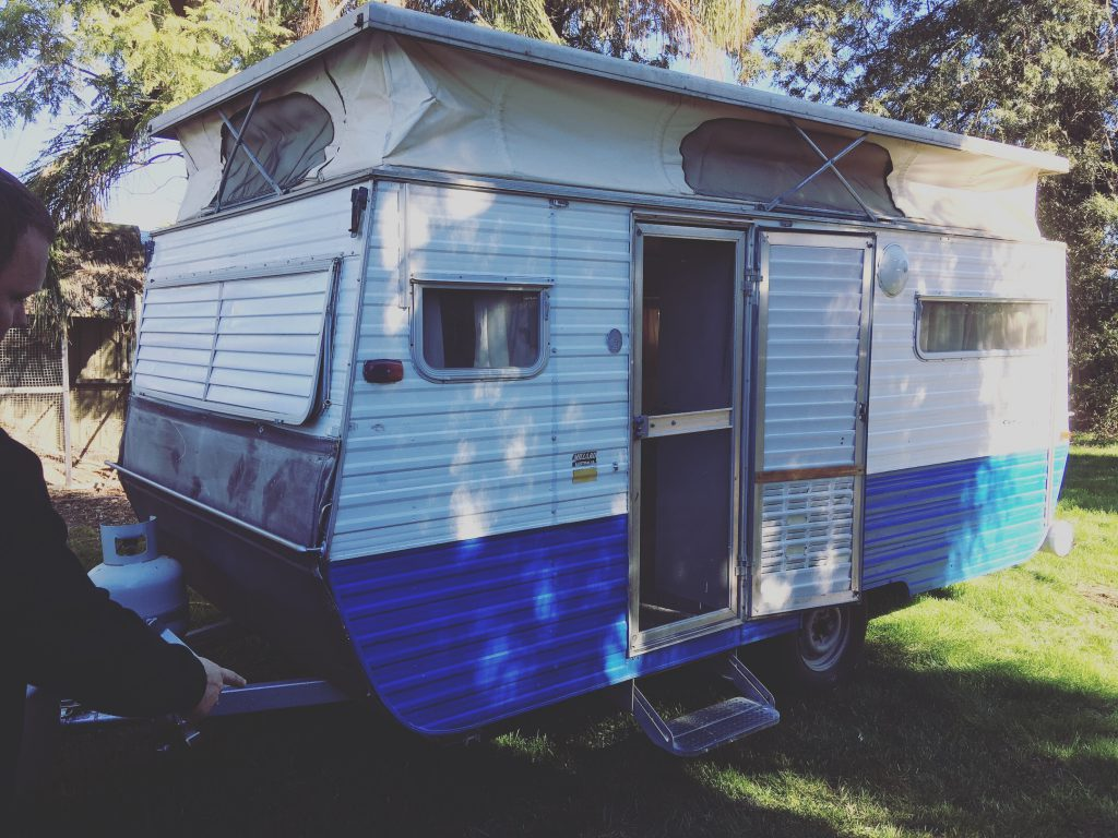 16ft Millard Pop-top Caravan 1979 - white and blue