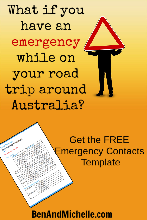 We don't want to have emergencies while we're on our road trip, but we do need to plan for them. Get the FREE Emergency Contact Form Template here, and take the stress out of finding contact numbers when you need them most. #roadtriparoundAustralia #freeemergencycontactformtemplate