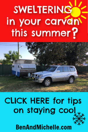 Read our tips on keeping cool in your caravan (RV) during these hot summer months. #PortableAirConditioners