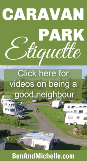 Caravan Park Etiquette just involves being respectful of other peoples space and property. Click here to read our tips for being a good caravan park neighbour. #caravanparketiquette