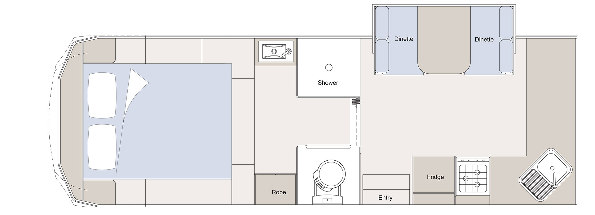 Layout plan of the Sunliner Northshore Fifth Wheel 5N461