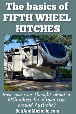 If you're new to fifth wheel trailers it can be a bit confusing when you're thrown into a world of fifth wheel hitches, goosenecks and sliders. Here's the basics of what it all means. #fifthwheelhitches