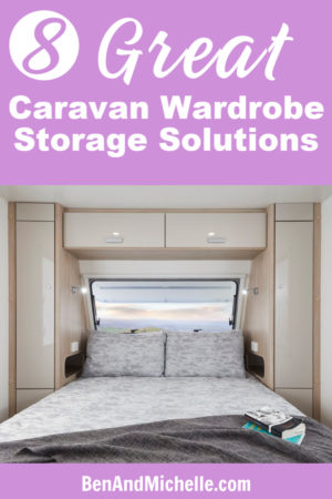 Maximise your caravan wardrobe storage space with these great closet organisation ideas. Whether you're in a motorhome or caravan you can still find ways to store all your clothes with these caravan organisation and storage tips.