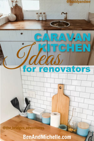 For anyone planning to renovate their caravan kitchen, these ideas will inspire and motivate you! Everything from the countertops to the splashback, weve compiled a selection of great examples for you to see. #caravankitchenrenovations