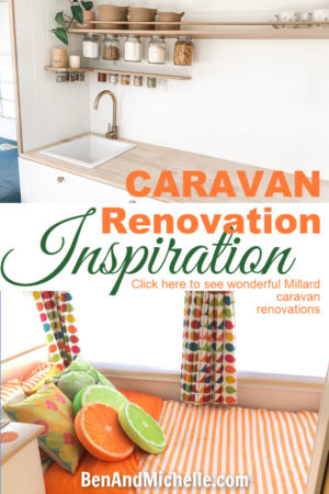 Be inspired by these wonderful Australian caravan renovations. This collection is all Millard caravan renovations. #caravanrenovations