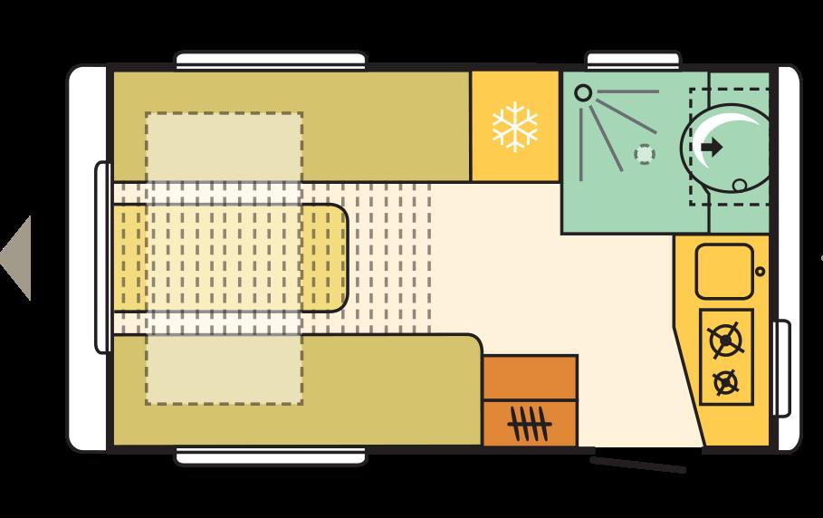compact caravan floorplan