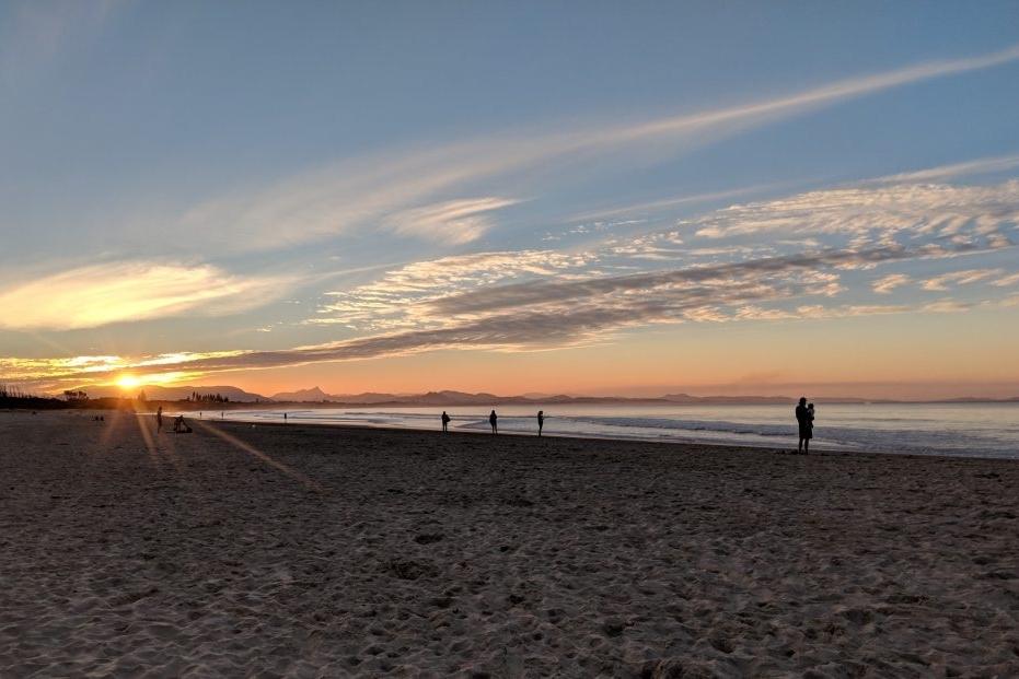 Sunset at Belongil Beach, NSW Australia
