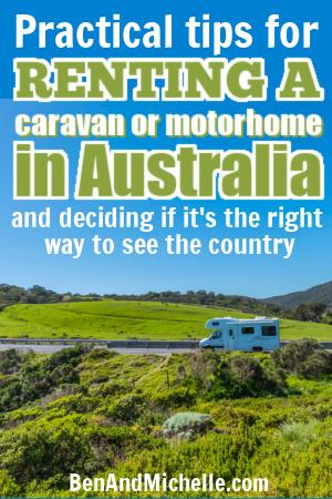 motorhome in green Australian countryside