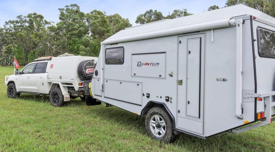 Side view of an Australian off road caravan.