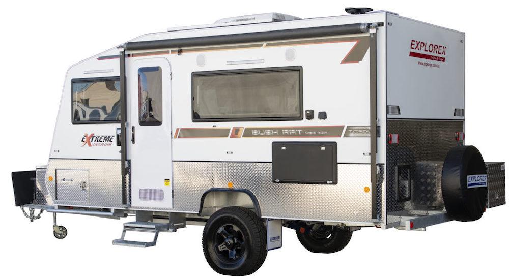 ExploreX 4.9m Bush Rat off road caravan.