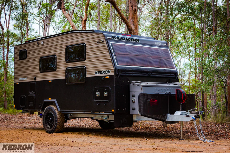 Kedron CP5 Compact off road caravan parked in a bush setting.