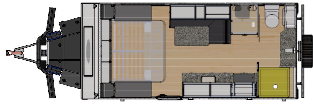 Zone RV Z-17.0 Off-road caravan layout.