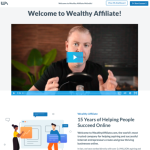 Screenshot of Wealthy Affiliate how to start a blog.